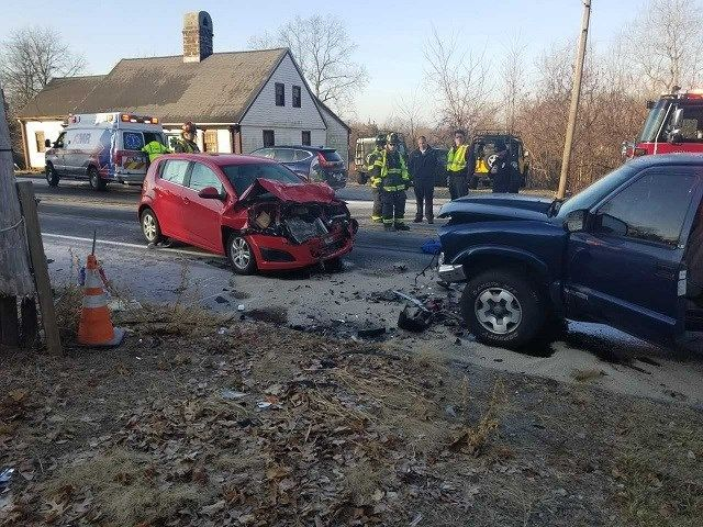 PD: Early morning icy road conditions caused many car crashes