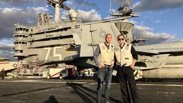 Channel 3's David McKay goes aboard USS Harry S. Truman