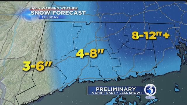 Tuesday's nor'easter to bring heavy snow, gusty winds