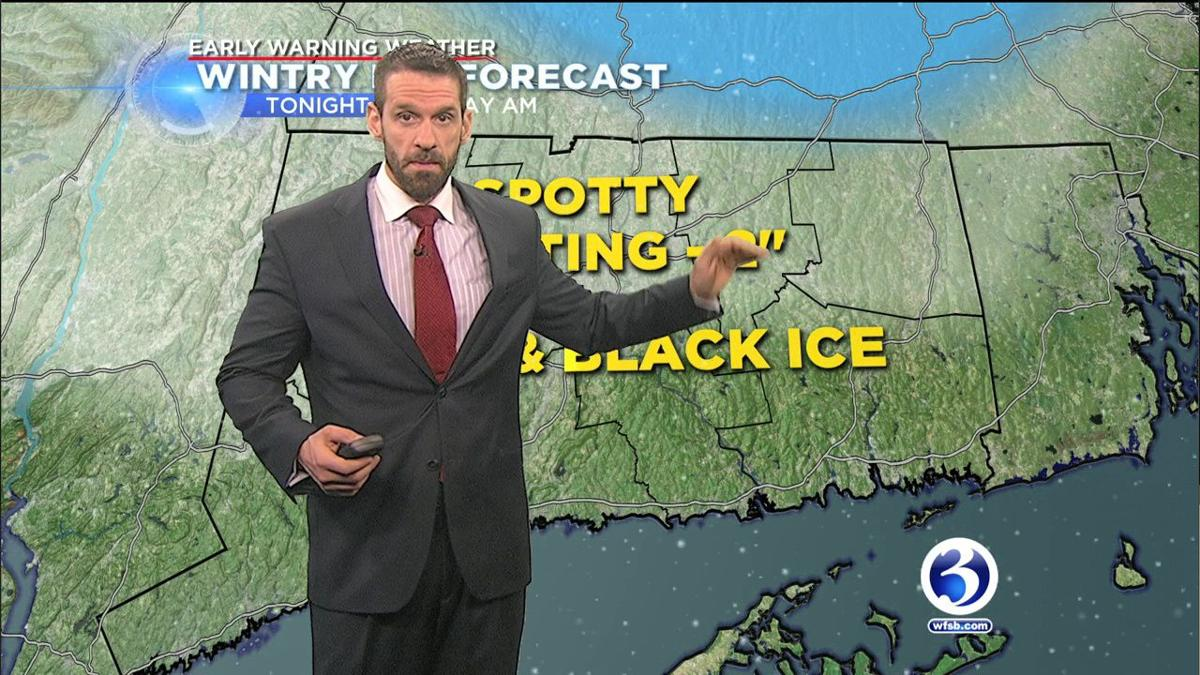 VIDEO: Cold temps enter CT overnight into Monday morning