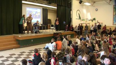 Ashford school chats with astronaut