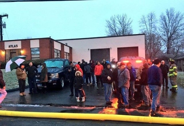 Crowd gathers to honor Newington Portuguese Club while crews battle fire