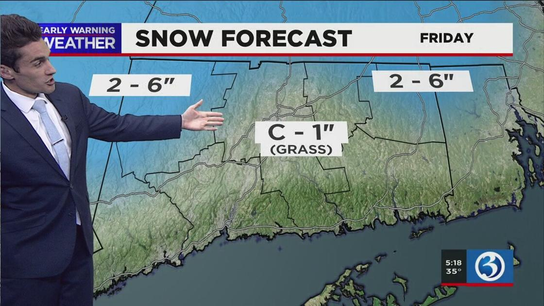 EARLY WARNING WEATHER ALERT: Accumulating snow possible for parts of CT as slow-moving storm continues
