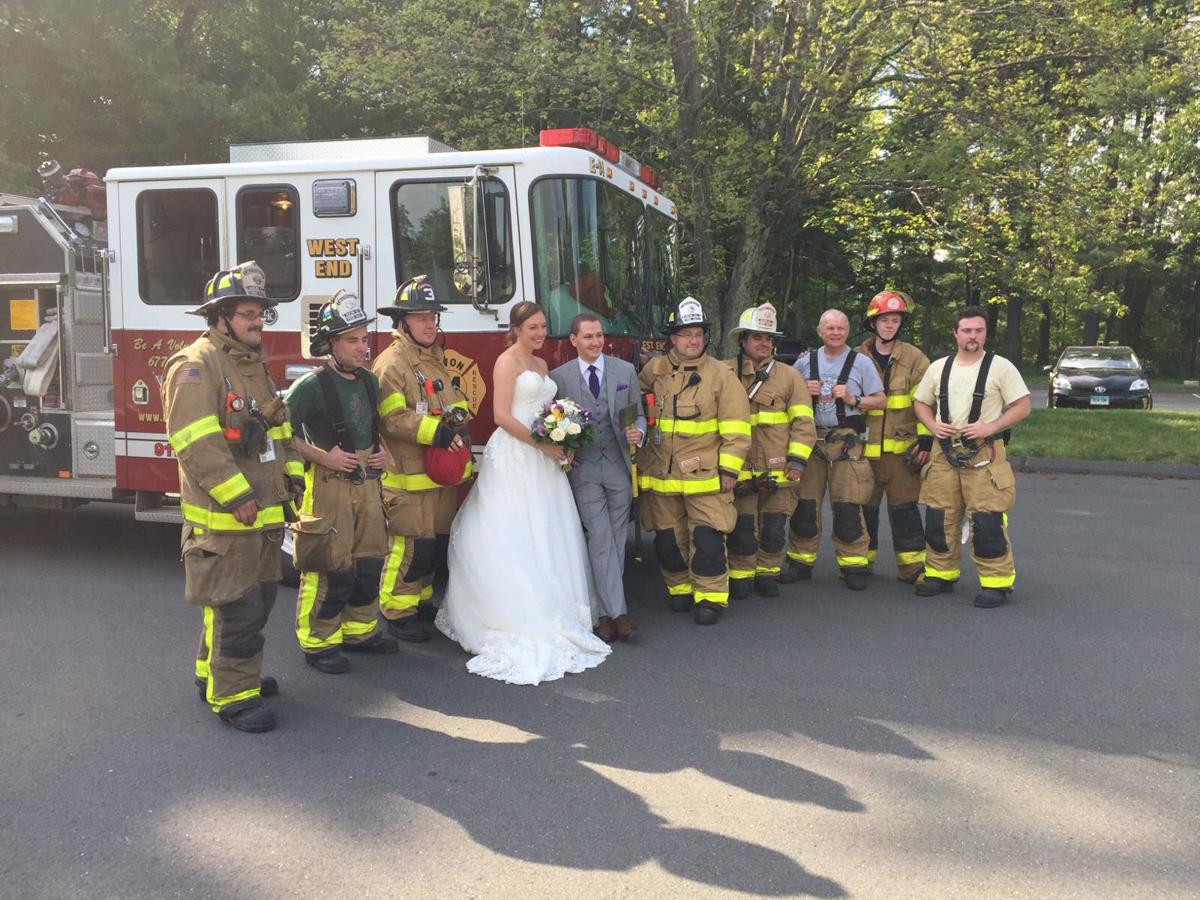 Avon firefighters save bride and groom's wedding plans