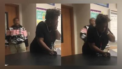 Teacher punched in Face