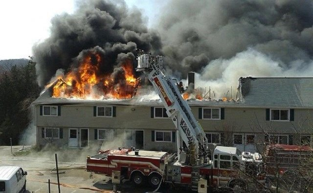Dozens displaced after fire damages Seymour apartment building