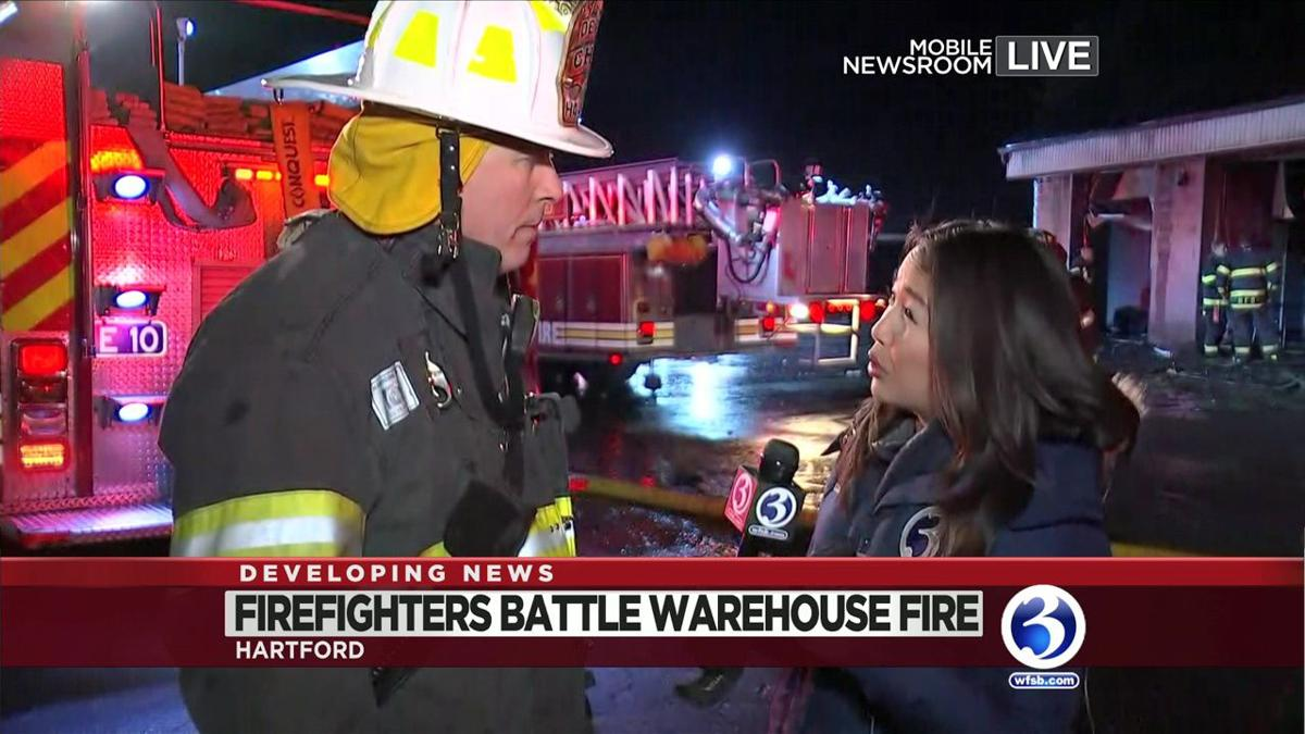VIDEO: Crews battle heavy fire in Hartford on Sunday