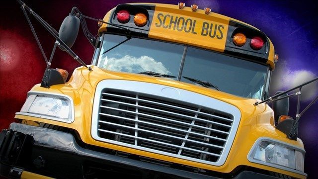 Window of occupied school bus shattered by BBs in New London