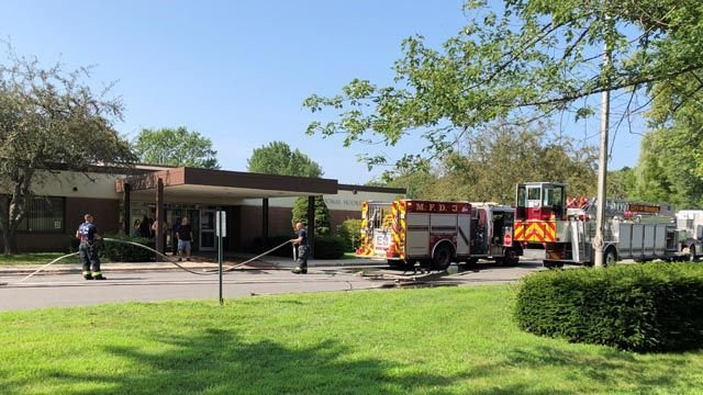 Smoke damage reported after fire at Meriden elementary school
