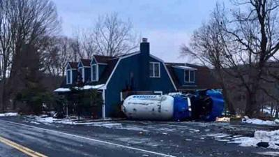 Propane truck rollover leads to evacuation in Bethany