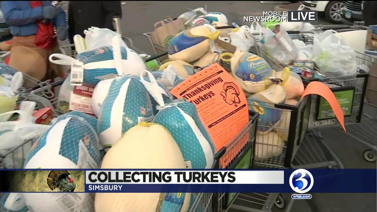 VIDEO: Foodshare collects nearly 400 turkeys in Simsbury