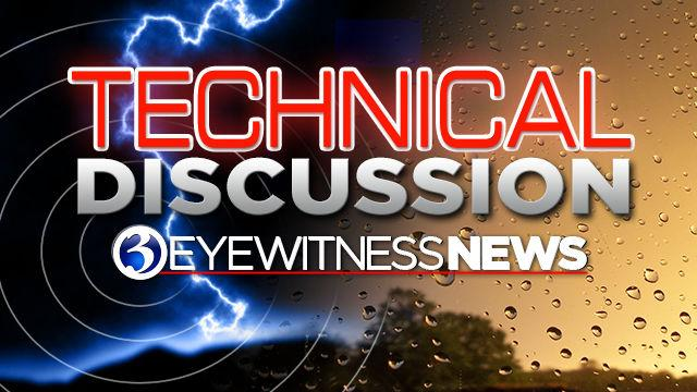 Technical Discussion: The flash flood warning remains in effect tonight!