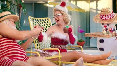 Katy Perry chills with Santa in 'Cozy Little Christmas' video