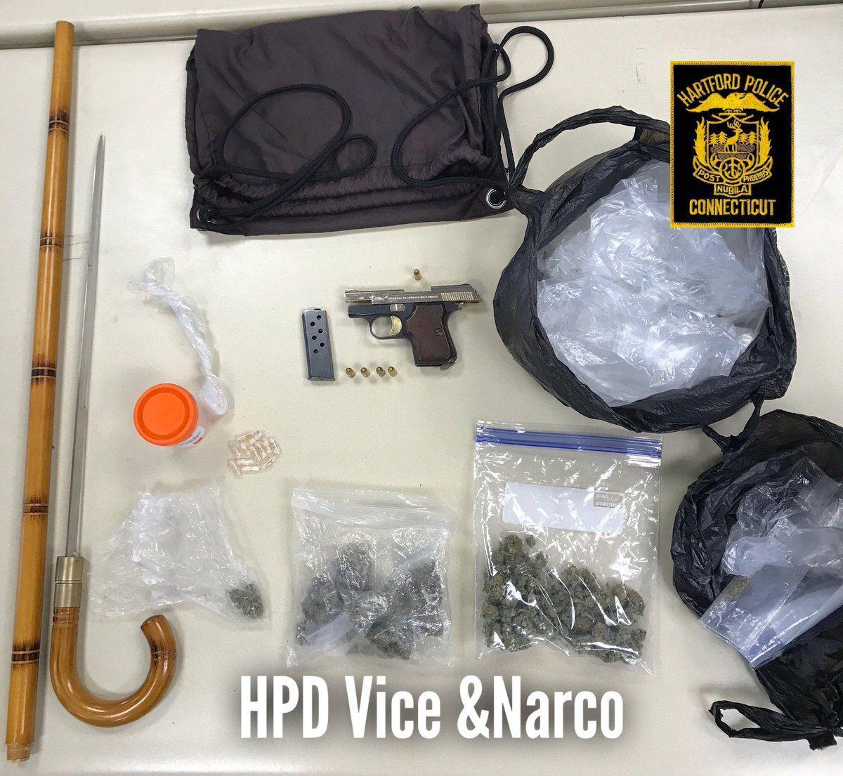 Weaving car leads to drugs, weapons arrest in Hartford
