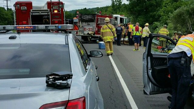 Injuries reported in crash on Route 7 in Brookfield