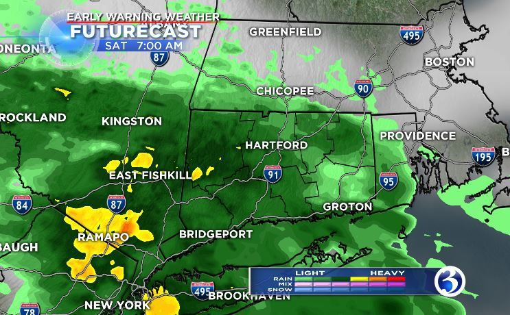 Saturday wet and soggy, Mother's Day mostly dry