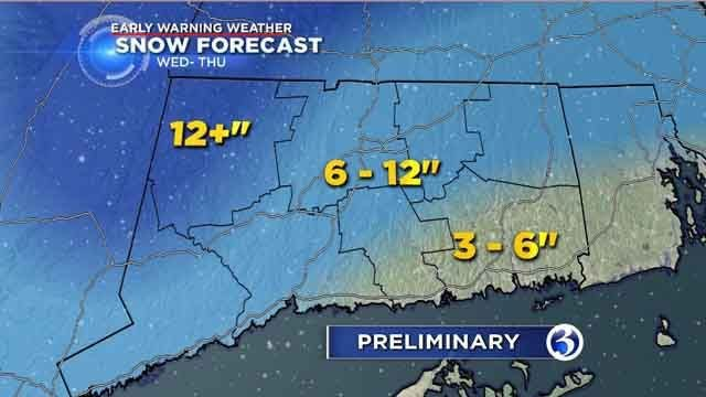 4th storm in three weeks to bring several inches of snow