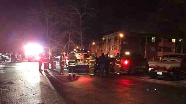 Willington apartment building fire sends two to hospital