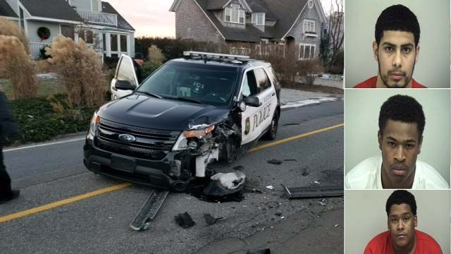 Waterbury teens arrested after stolen car crashes into police cruiser