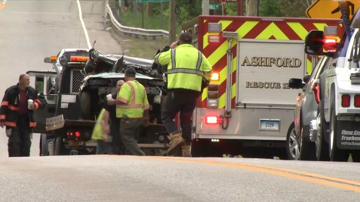 3-vehicle crash closes Route 44 in Ashford