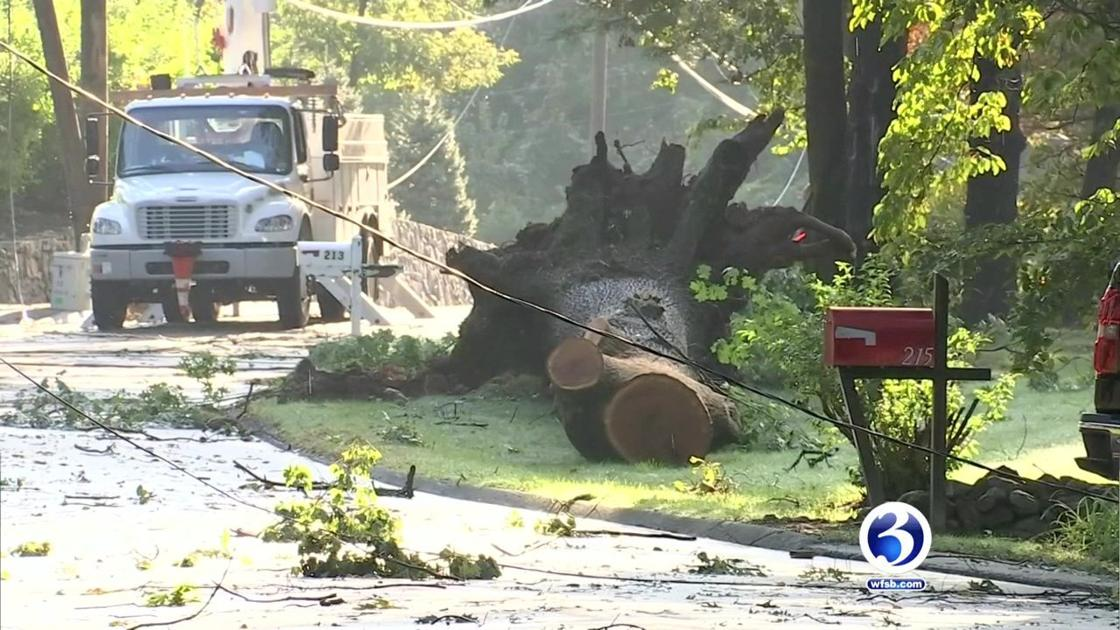 NWS: EF1 tornado touched down in New Canaan   News   wfsb com