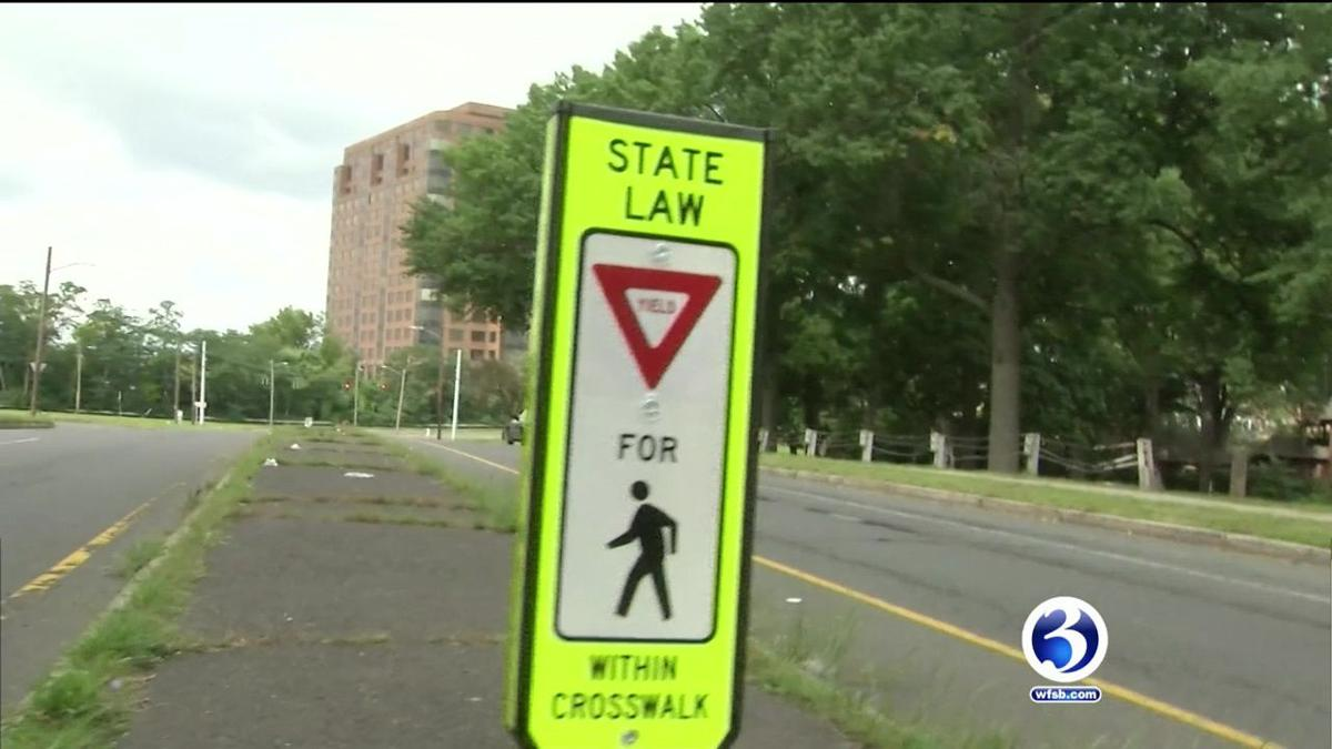 New center crosswalk signs installed in Hartford