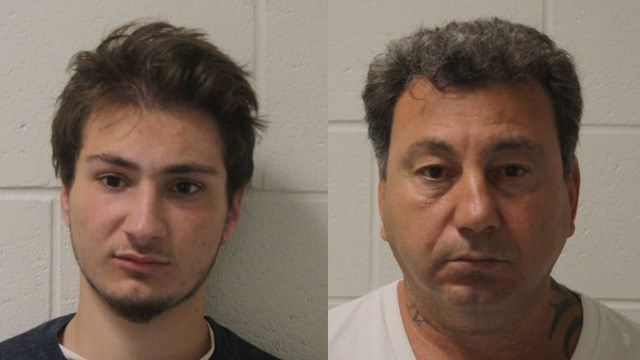 Father, son arrested following motorcycle collision with police cruiser