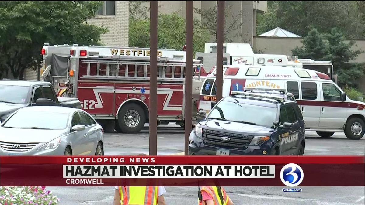 Hazmat crews respond to chemical incident at Cromwell hotel