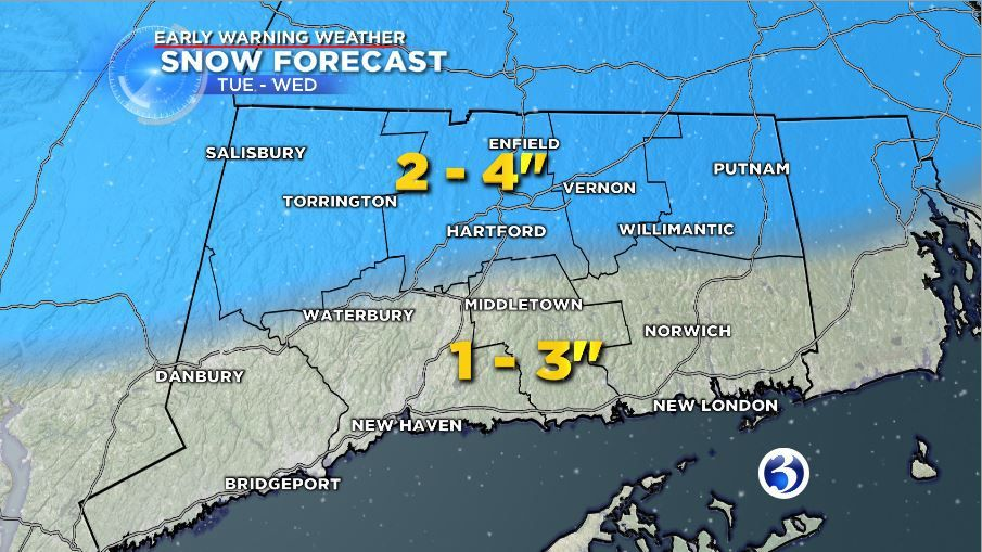Snow could impact Tuesday's evening drive
