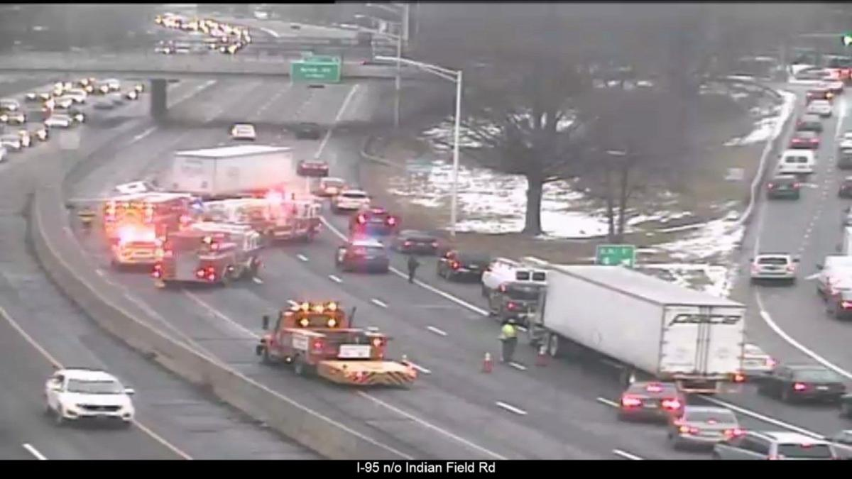 Tractor trailer driver cited following I-95 crash in Greenwich