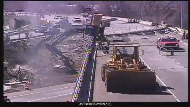 Operator dies after excavator tips over on Route 2 in East Hartford