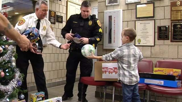 8-year-old boy donates birthday gifts to Wolcott police toy drive