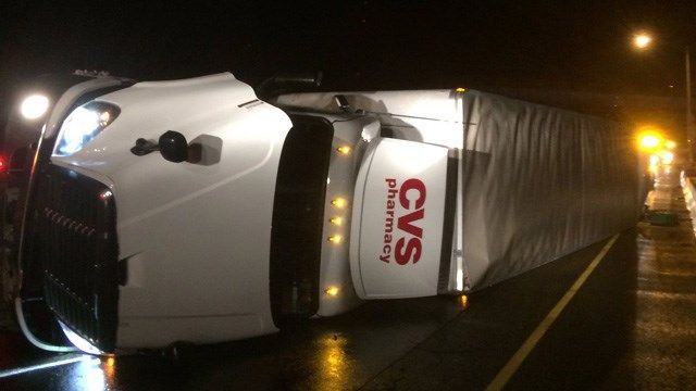 I-84 west in Danbury reopens after tractor trailer rollover