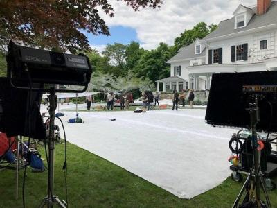 Christmas movie being shot in Old Lyme