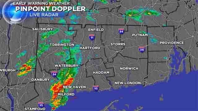 Storms, showers to linger throughout the evening