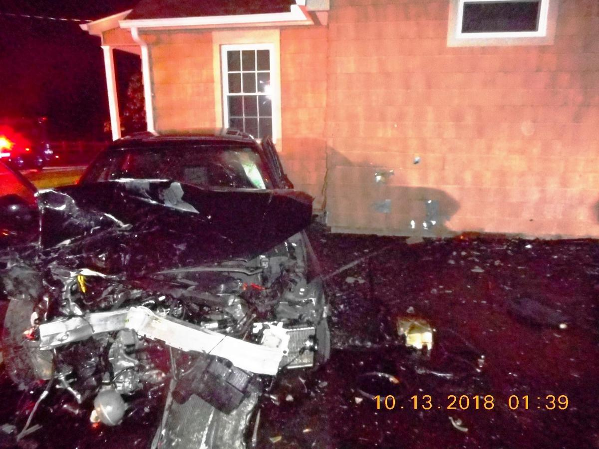 Car into Middlefield home