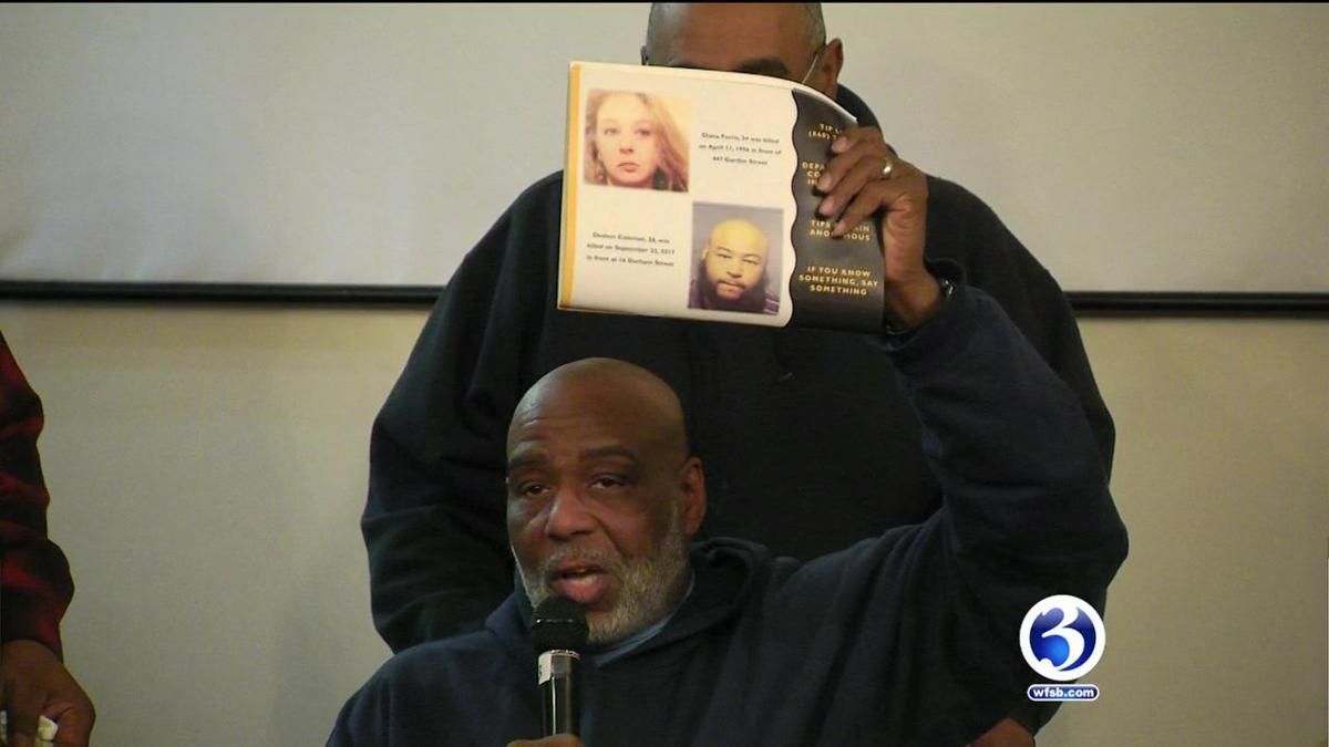 Video: Hartford Police meet with families of homicide victims