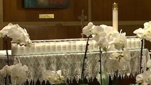 Newtown remembers the victims at a special church service