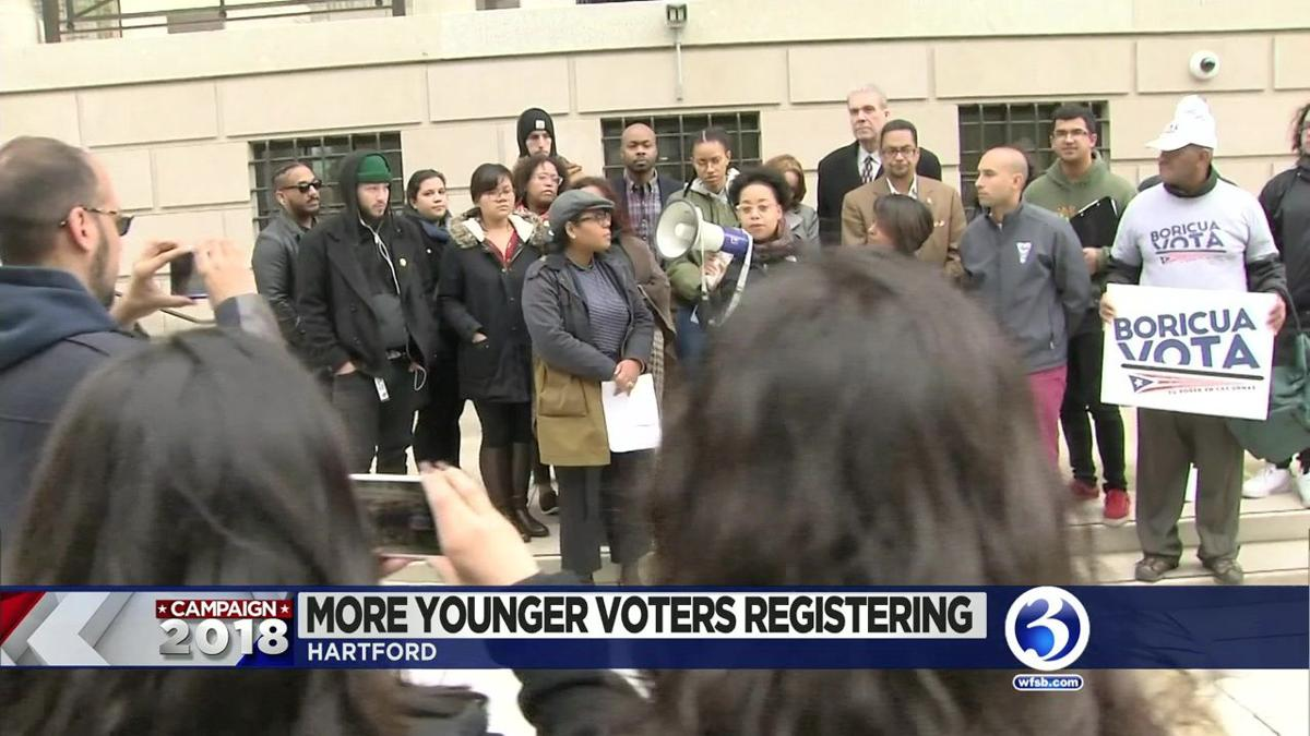 VIDEO: Young voters rally at UConn Hartford campus