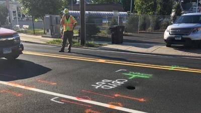 Sinkhole closes New Britain road