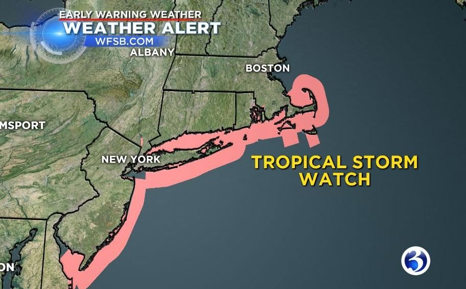 Tropical Storm watch in effect for East Coast