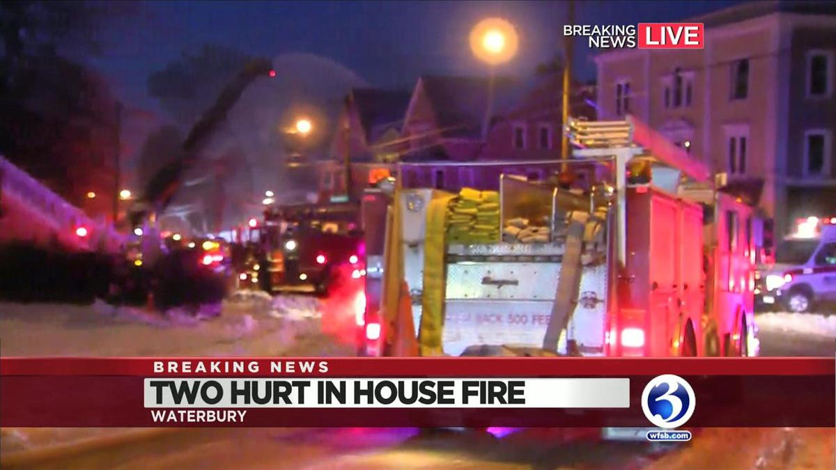 VIDEO: Several forced out by Waterbury house fire