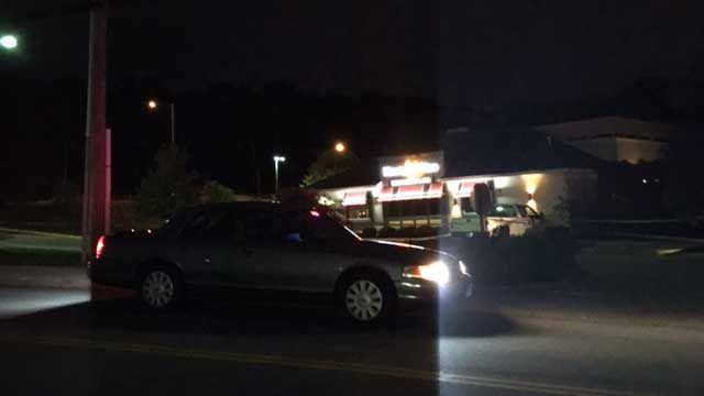 Two suspects at large following shooting in 99 Restaurant parking lot