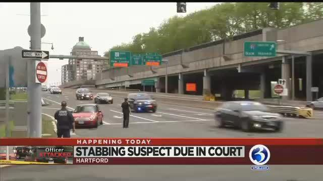 VIDEO: Woman accused of stabbing Hartford officer to face a judge
