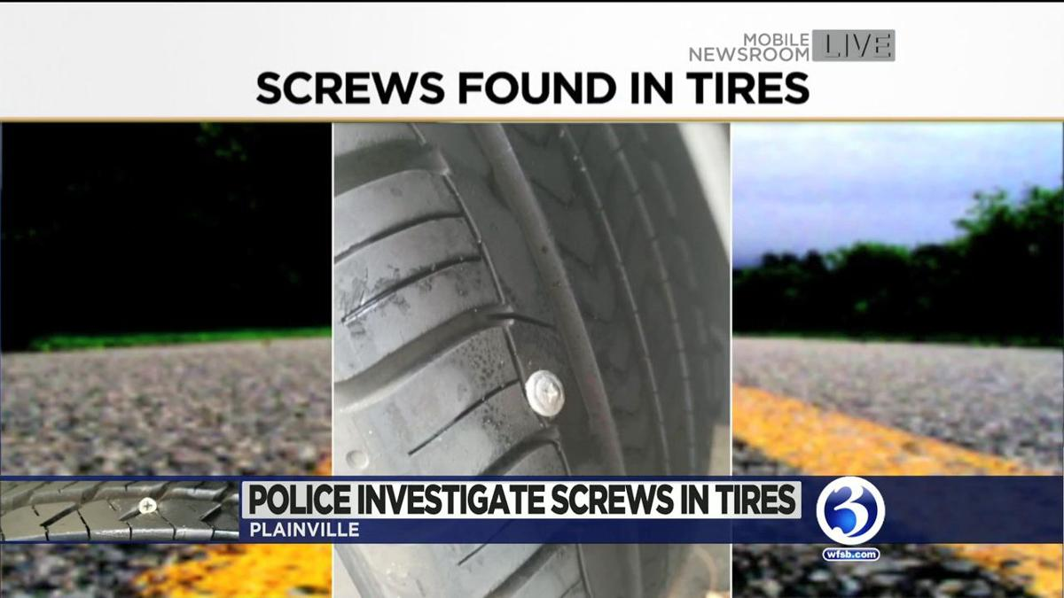 VIDEO: Screws found on several streets in Plainville