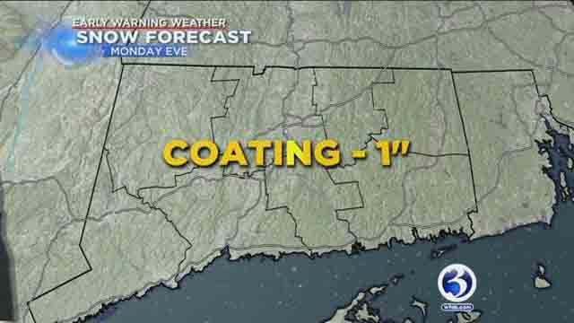 Snow could impact Monday evening commute
