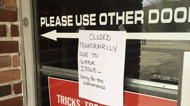 Oxford businesses closed due to 'water and construction issues'