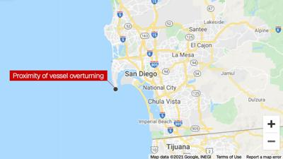 2 dead, more than 20 hospitalized after vessel overturns off San Diego coast