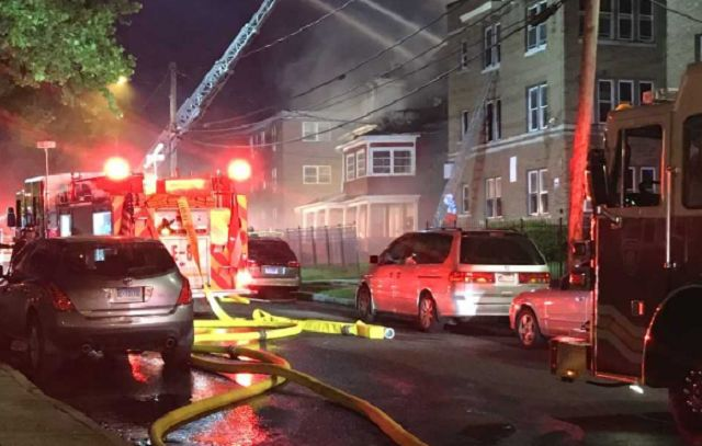 Three firefighters hospitalized after large Hartford apartment fire