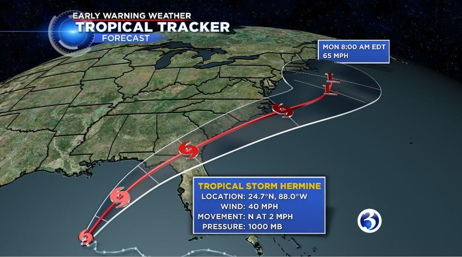 Tropical Storm Hermine could impact the holiday weekend